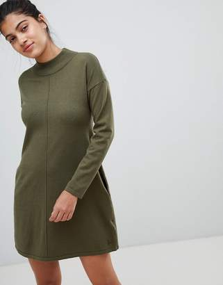 Jack Wills Slouchy Knit Dress with High Neck