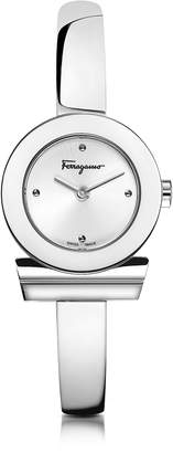 Salvatore Ferragamo Gancino Silver Stainless Steel Women's Watch