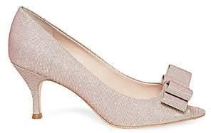 Kate Spade Women's Cecilia Glitter Peep Toe Pumps