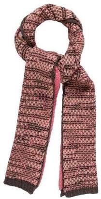 Missoni Rib Knit Patterned Scarf