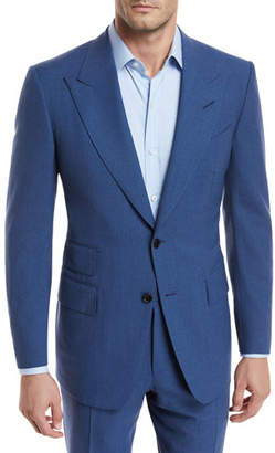 Tom Ford Fresco Wool Mouline Two-Piece Suit