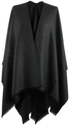 Daniel Luxe Grey Wool & Silk Mix Cape