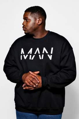 boohoo Big And Tall Oversized MAN Dash Sweater