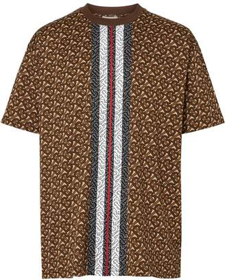 Burberry Monogram Stripe Print Cotton T-shirt