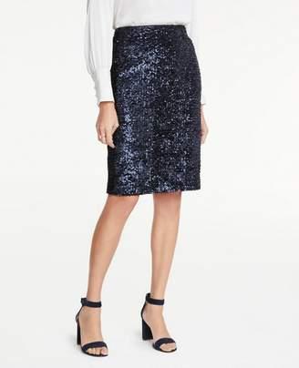 Ann Taylor Petite Sequin Pencil Skirt