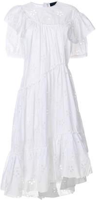 Simone Rocha broiderie anglaise asymmetric hem dress