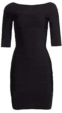 Herve Leger Women's Off-The-Shoulder Mini Dress