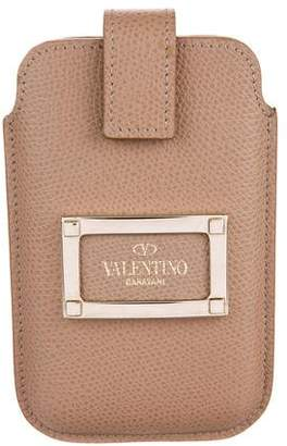 Valentino Leather iPhone SE Case