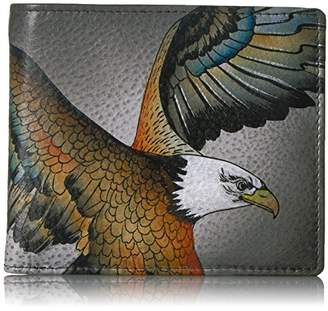 Anuschka Hand Painted RFID Blocking Two-Fold Men's Organizer Wallet | American Eagle