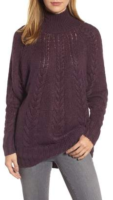Caslon Dolman Sleeve Cable Knit Tunic