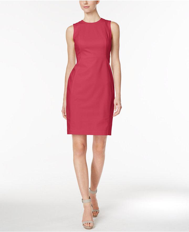 Calvin Klein Stretch Canvas Sheath Dress 7