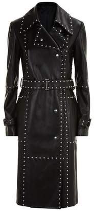 Helmut Lang Studded Leather Trench Coat