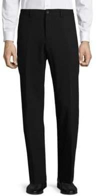 Giorgio Armani Flat-Front Wool Trousers