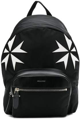 Neil Barrett Maltese cross backpack