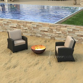 Forever Patio Barbados Deep Seating Chair with Cushions (Set of 2) Forever Patio