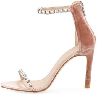 Pelle Moda Frisk Jeweled Velvet/Satin High-Heel Dressy Sandals