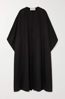 Valentino Wool And Cashmere-blend Cape - Black