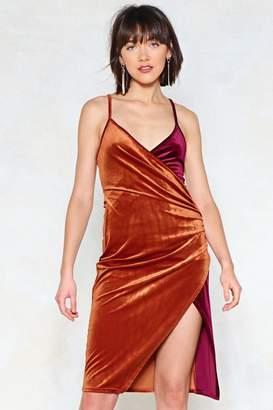 Nasty Gal Switch Sides Velvet Dress
