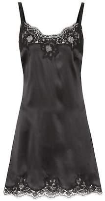 Dolce & Gabbana Silk-blend slip dress
