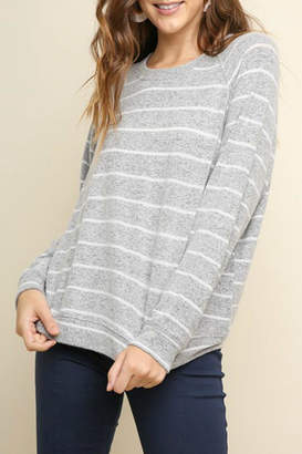 Umgee USA Soft Striped Pullover