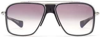 Dita Eyewear Initiator Aviator D Frame Titanium Sunglasses - Mens - Black
