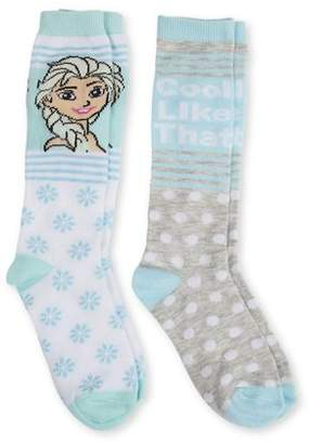 Frozen Knee High Socks, 2 Pairs (Little Girls & Big Girls)