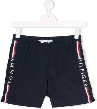 Tommy Hilfiger Junior logo stripe casual shorts