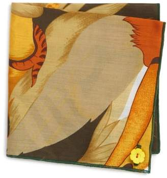 Wilson Armstrong & Orange Rose Cotton Pocket Square