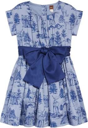 Tea Collection Print Sash Dress