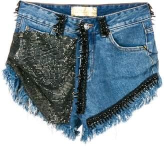Loulou embellished denim shorts