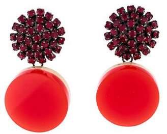 Marni Crystal & Resin Clip-On Earrings