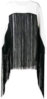 MM6 MAISON MARGIELA fringed long-line sweater