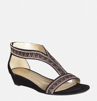 Avenue ILana Embellished T-Strap Wedge Sandal