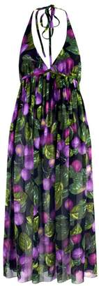 Marc Jacobs Redux Grunge Plum Georgette Halter Dress