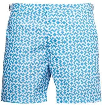 29b19712cf Orlebar Brown Bulldog Frecce Print Swim Shorts - Mens - Light Blue