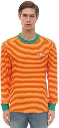 GUESS X J Balvin Vibras Collection Long Sleeve Stripe Cotton Jersey T-shirt