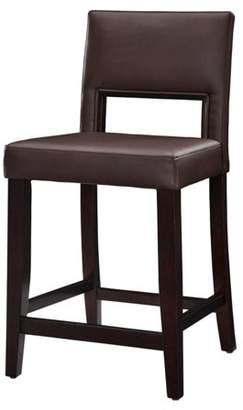 Linon Vega Counter Stool, Dark Brown, 24 inch Seat Height