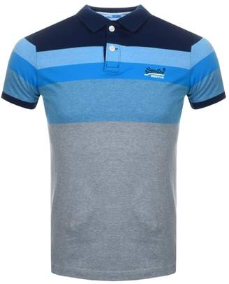 Superdry Miami Feeder Polo T Shirt Blue