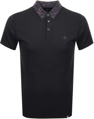 Pretty Green Owlsey Collar Polo T Shirt Black