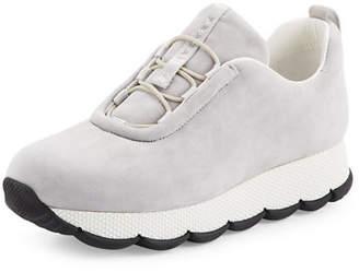 Prada Linea Rossa Suede Stretch-Vamp 35mm Sneakers