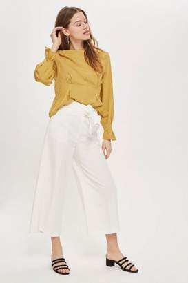 Topshop High Waist Bonded Culottes