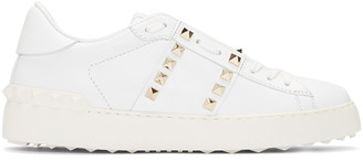Valentino White Rockstud Sneakers $795 thestylecure.com