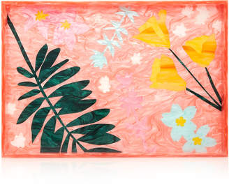 Edie Parker Bodacious Botanical Extra Large Floral-Print Acrylic Tray