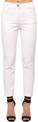 Balmain Slim Cotton Blend Denim Jeans