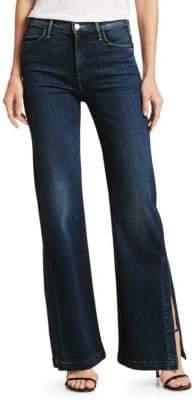 Mother Hustler Super High-Rise Split Flare Jeans