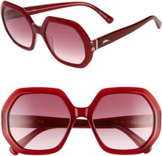 f843841365a Longchamp Heritage 55mm Gradient Lens Geometric Sunglasses