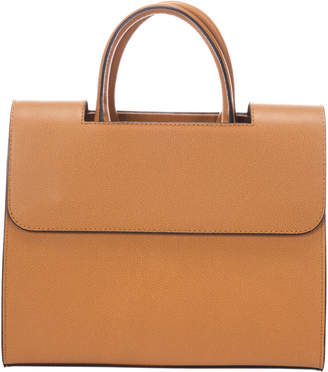 Italian Leather Structured Leather Satchel