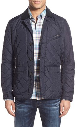 Men's Barbour 'Beauly' Tailored Fit Quilted Jacket With Corduroy Collar $279 thestylecure.com