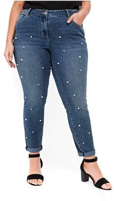 Evans Embellished Boyfriend Jeans (Plus Size)