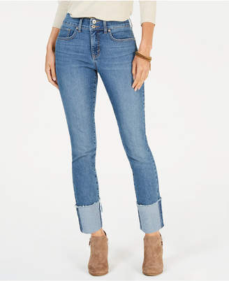 Style&Co. Style & Co Frayed-Cuff Ankle Jeans